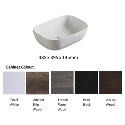 Baron B84 Basin cabinet with solid top colors