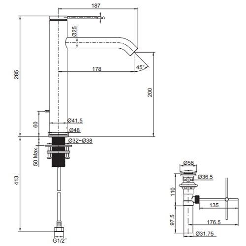 Kohler K-77959T-4AMUE2-BLR specification DRW
