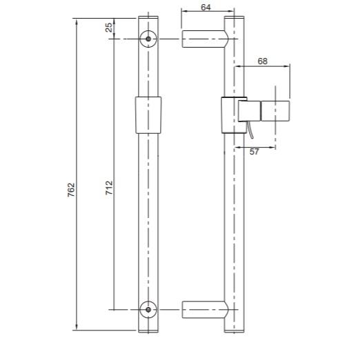 Kohler K-8524T-BL Slide bar Specification DRW