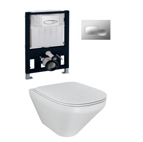Kohler Modernlife WH Toilet with Pneumatic Inwall Tank and faceplate
