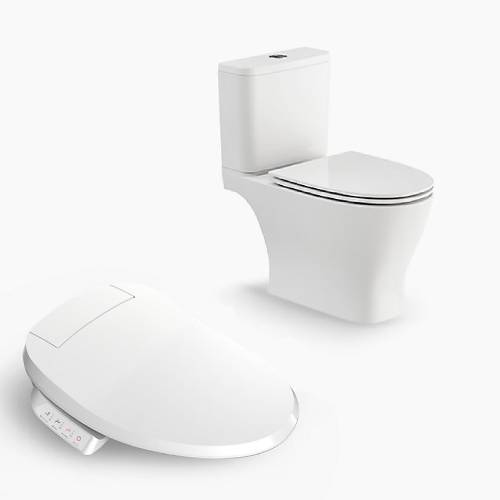 Kohler Reach Up 2pc Toilet with C3-050 Bidet seat